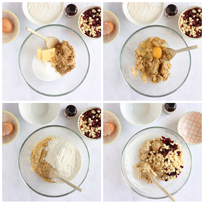 Step by step instructions for making the cookies.