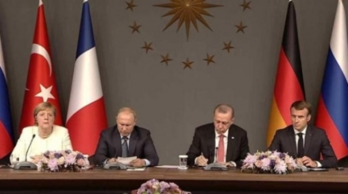 البيان الختامي لقمة اسطنبول الرباعية الالتزام بوحدة سورية وسيادتها واستقلالها