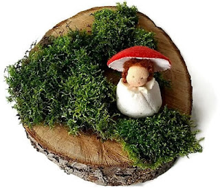Antroposofisch paddenstoel Mieke Stender Atelier de Vier Jaargetijden