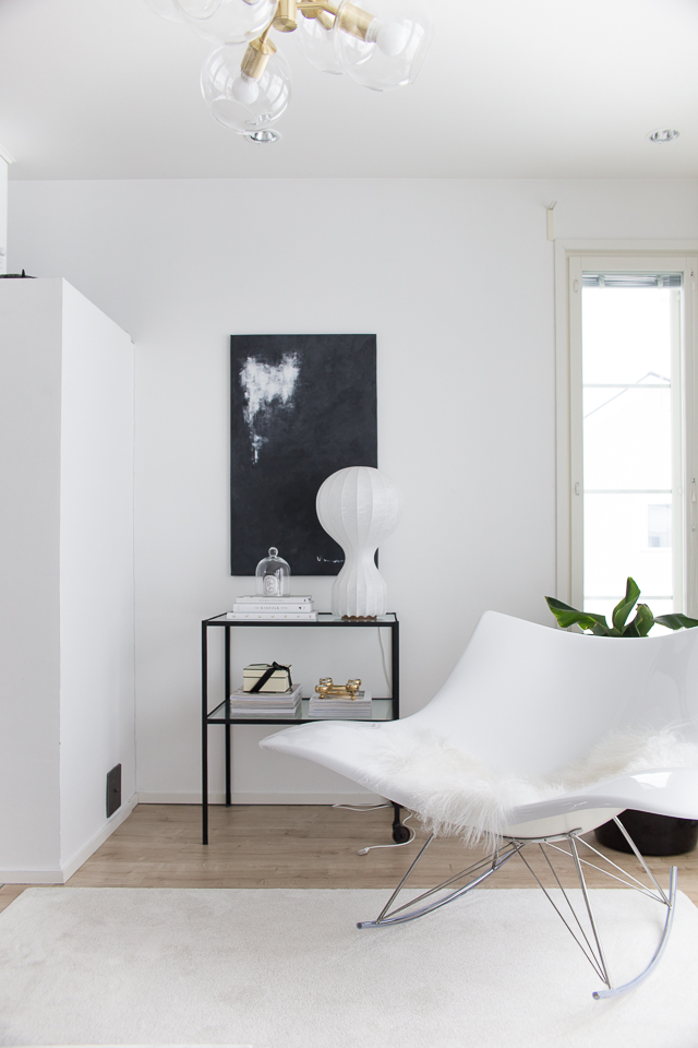 Villa H, mustavalkoinen maalaus, flos gatto, banaanipuu