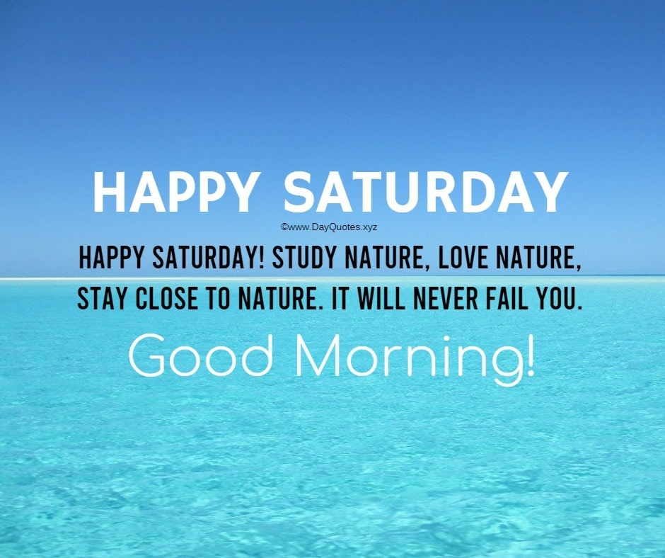 Saturday Good Morning Images