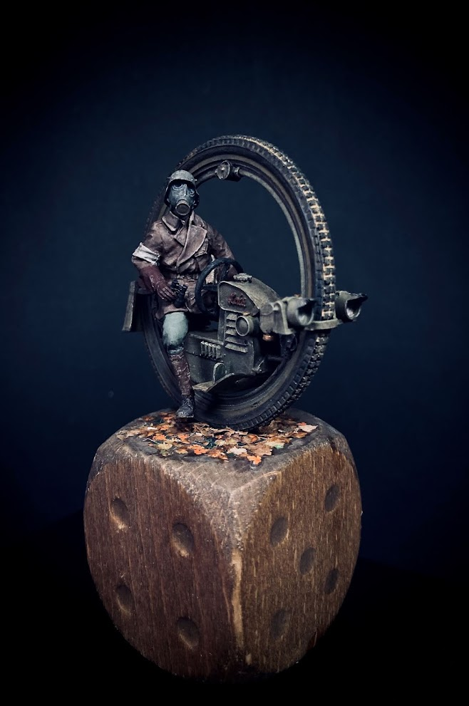 `MC 1919` Monowheel Motorcycle Concept WWI in 1/35 scale by ANDIGO