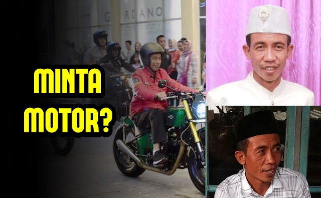 Bukan Sepeda, Pria Mirip Jokowi Ini Ingin Minta Motor
