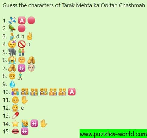 Guess the characters of Tarak Mehta ka Ooltah Chashmah