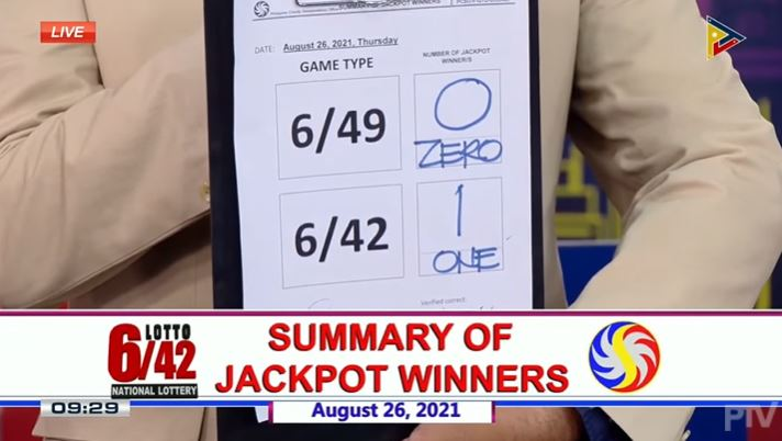 Lone bettor wins Php 18-M Lotto 6/42 jackpot