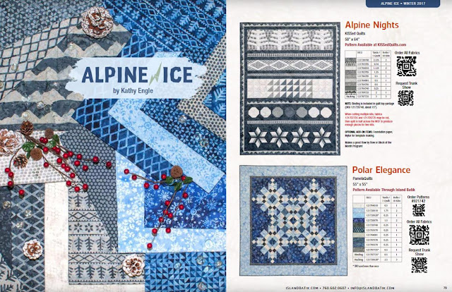 Alpine Ice fabric collection by Island Batik