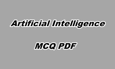 Artificial Intelligence MCQ PDF