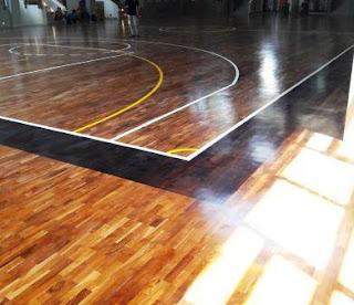 lantai kayu basket