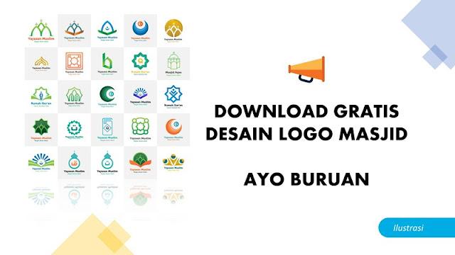 Desain Logo Masjid Gratis Download + Master AI