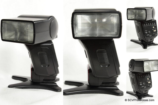 Canon Speedlite 420EX flash head swivel pos