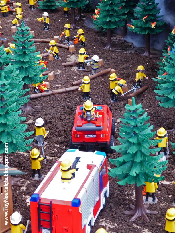 Diorama Playmobil Bomberos City Action - Incendio Forestal  (Fira Sabadell - 2019)