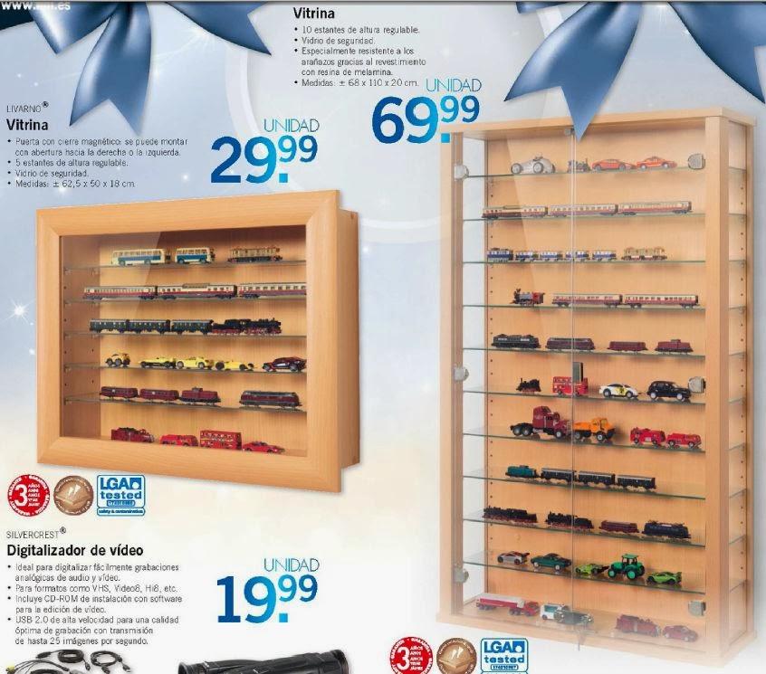 Horyminiaturas oferta de vitrinas del lidl for Catalogo de ofertas lidl