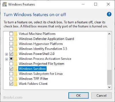 Mengaktifkan Windows Sandbox untuk Virtualisasi