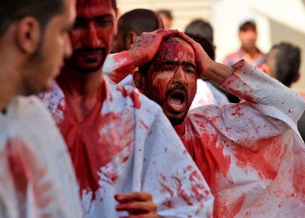 Во время этого религиозного праздника мусульмане режут себя и детей-мальчиков, поливая улицы кровью