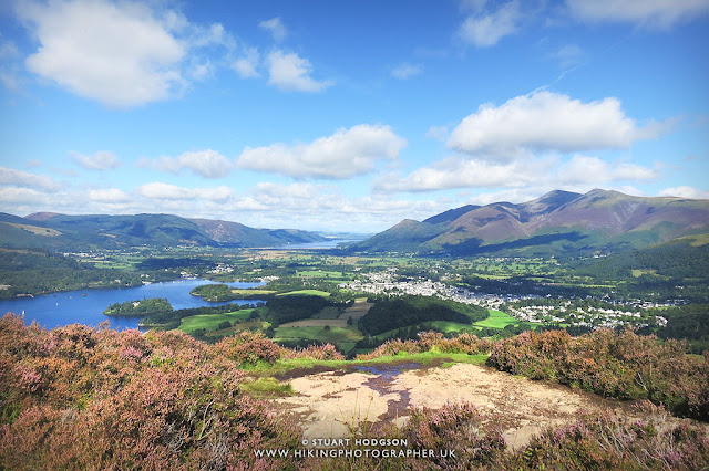 Walla crag view keswick walk lake district