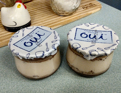oui yogurt with cute reusable glass jars
