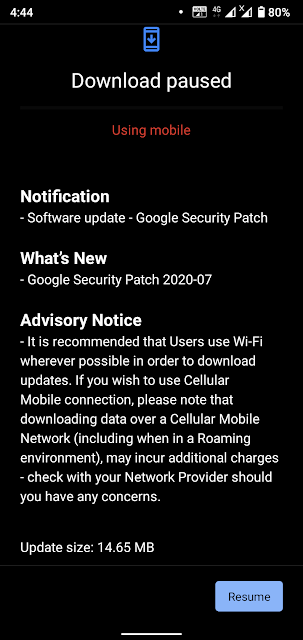 Nokia 3.2 receiving July 2020 Android Security patch