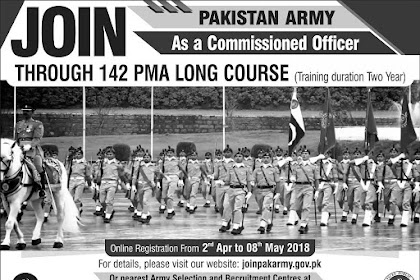 JOIN PAK ARMY PMA 142 LONG COURSE 2018