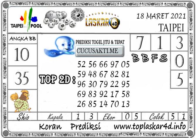 Prediksi Togel TAIPEI LASKAR4D 18 MARET 2021