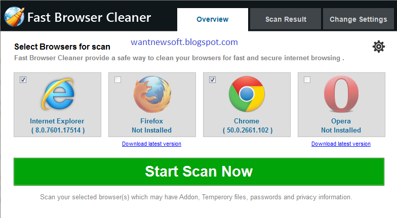 Fast Browser Cleaner Free Download With License Key For PC