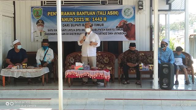 Bupati dan Wakil Bupati Hadiri Kegiatan Penyerahan Bantuan Melalui DPD BKPRMI Kepada Ustadz dan Ustadzah Se Bartim