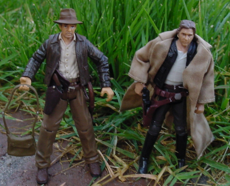 2008 Indiana Jones, Black Hole Stormtrooper, Animated Boba Fett, Endor Han Solo