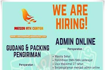 Lowongan Kerja Bandung Karyawan Meizon ATK Center