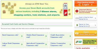 Menggunakan jaringan ATM di Jepang