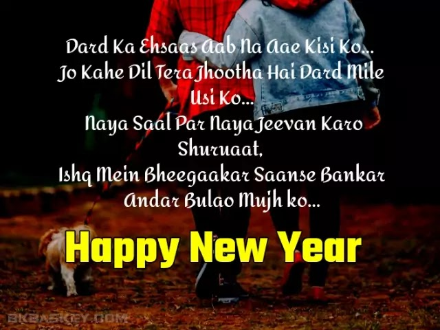 New Year Hindi Love Shayari   Happy New Year quotes