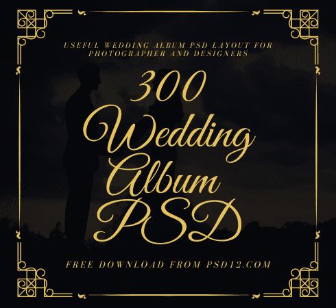 300 Wedding Album Design PSD Layout