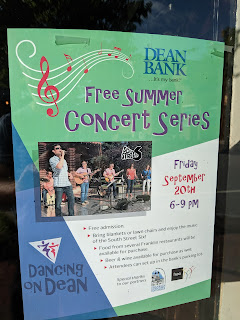 South Street Six plays Dean Bank on Friday, Sep 20