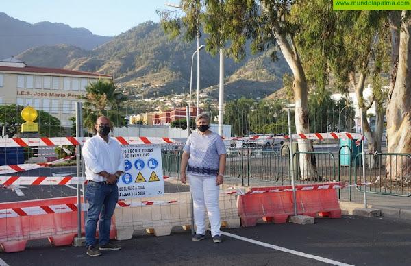 En marcha las obras de la nueva rotonda a la entrada de Los Llanos de Aridane