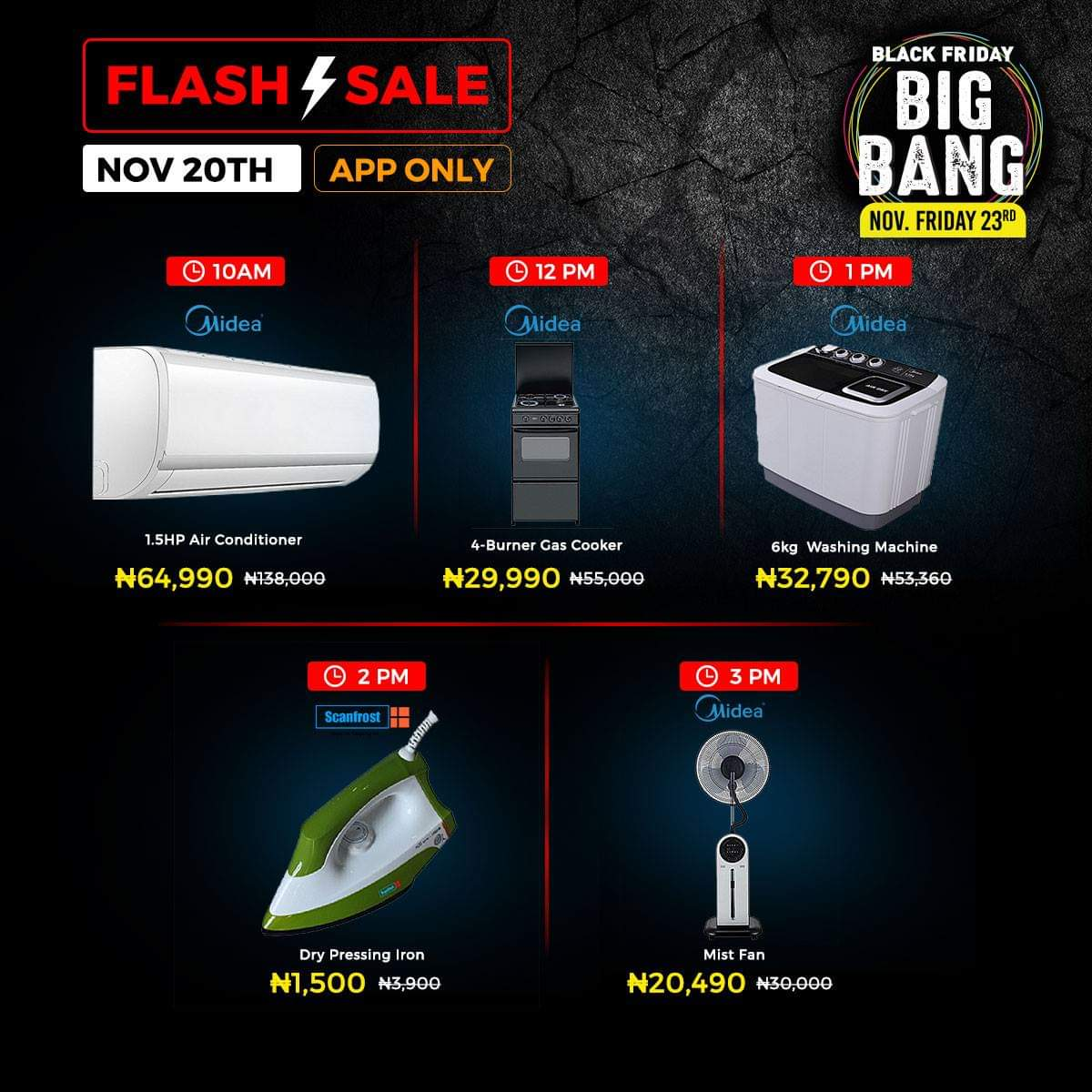Jumia Black Friday Flash Sales