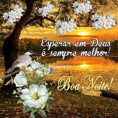 Esperar em Deus é sempre melhor!  Boa Noite!