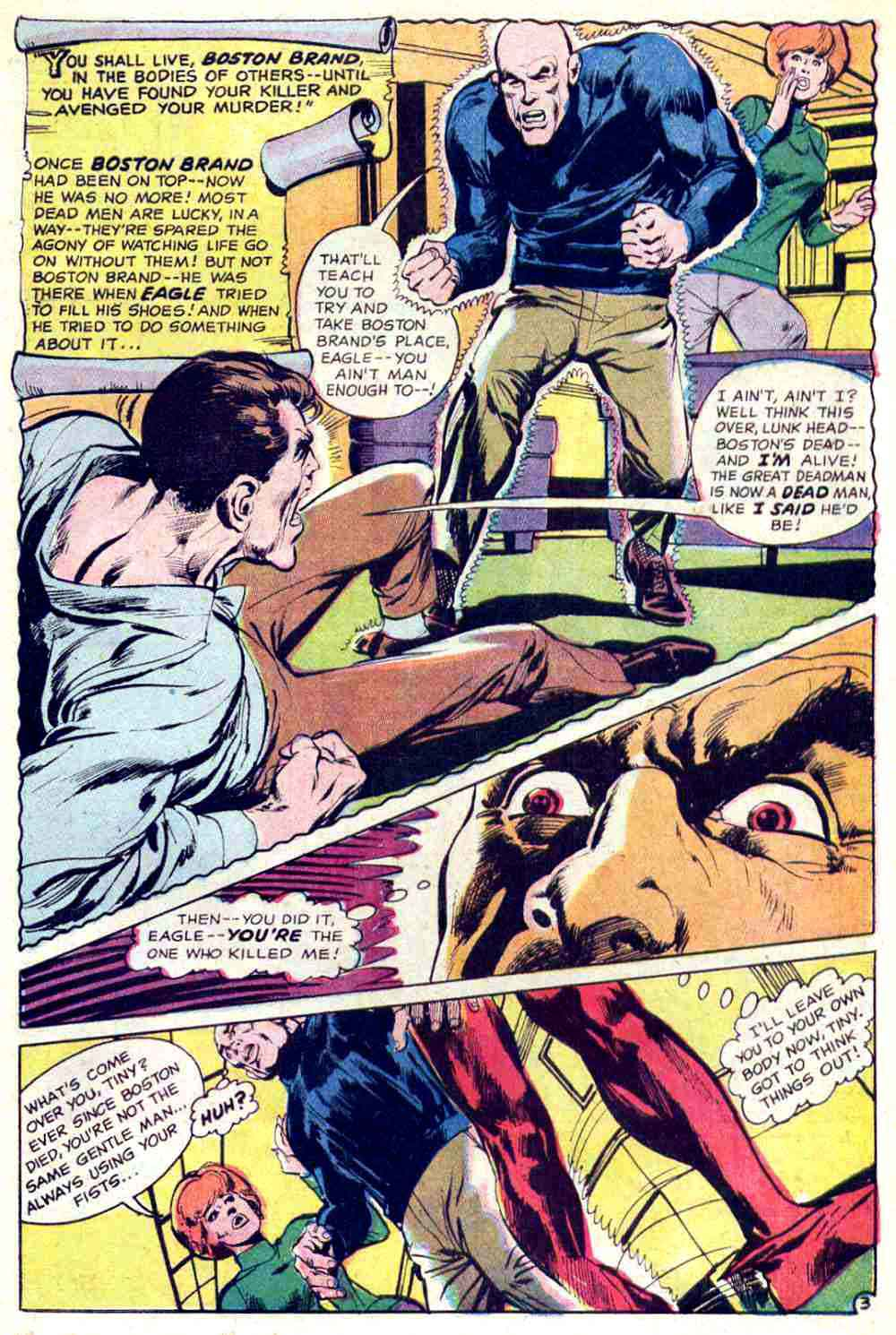 Strange Adventures v1 #209 dc 1960s silver age comic book page art by Neal Adams