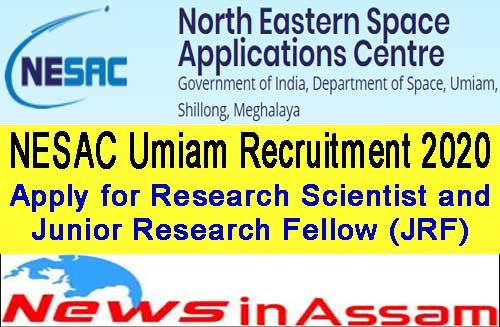 NESAC Umiam Recruitment 2020
