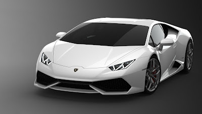 Lamborghini Huracan LP610-4 Spyder white color edition pose