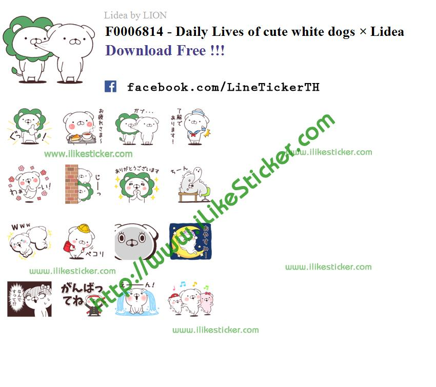 Daily Lives of cute white dogs × Lidea