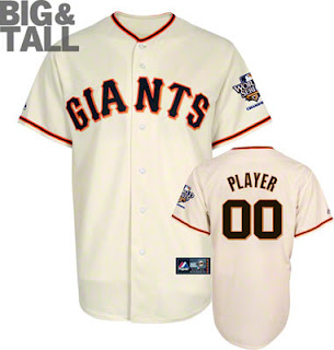 Big and Tall San Francisco Giants Customized Jersey