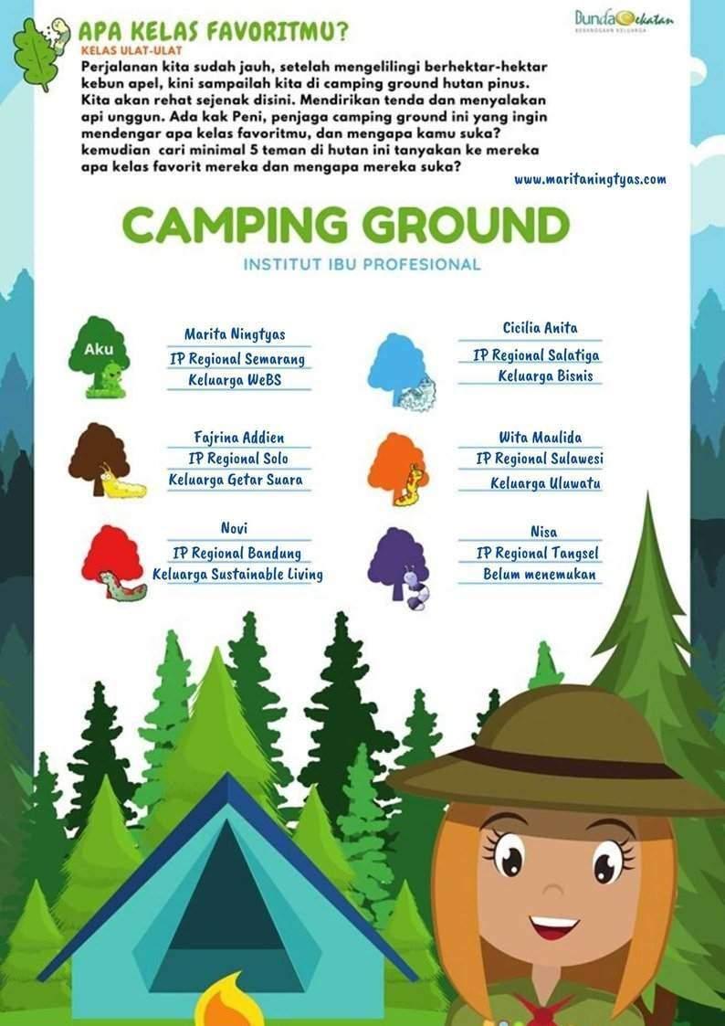 5 teman baru favorit di camping ground bunda cekatan