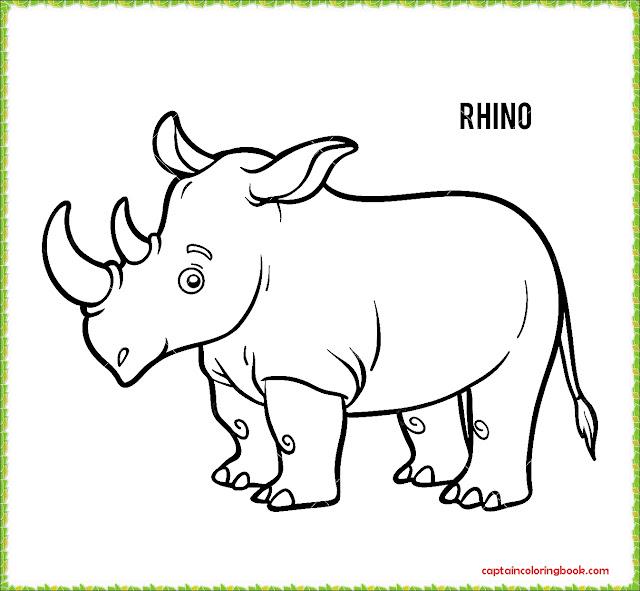 Rhino Coloring