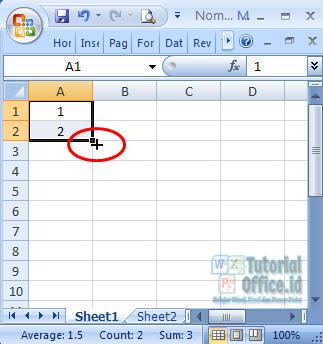 Membuat Urutan Nomor pada Excel