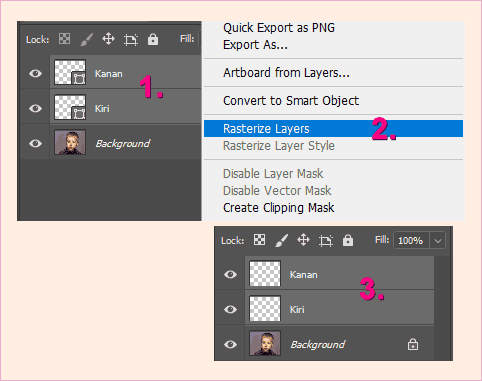 Cara membuat Rasterize Layer di Photoshop