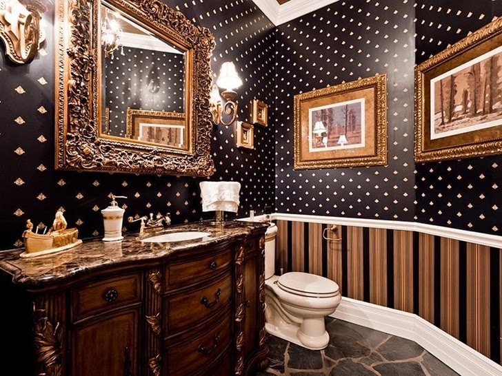Toilette in Outstanding custom built house in Canada