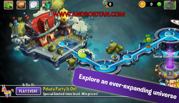 Update Terbaru Plant Vs Zombie 2 Apk Mod + Data