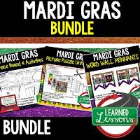 Mardi Gras Activities, Louisiana History, Digital Graphic Organizers