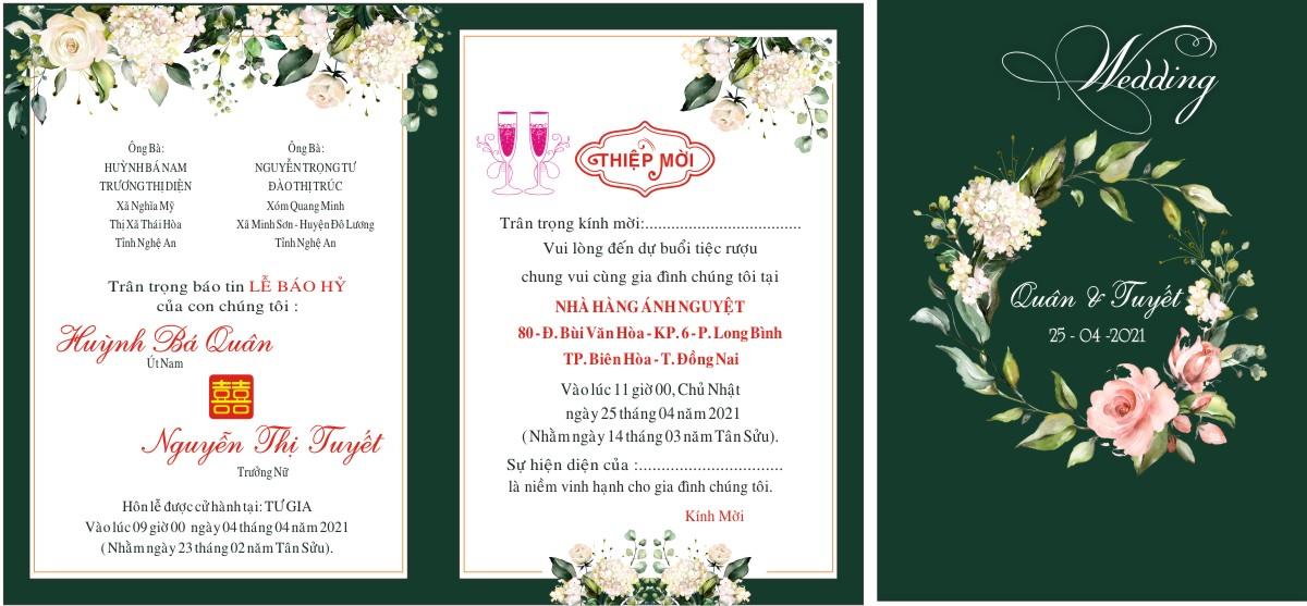 in Thiệp cưới giá rẻ tại Changshin vĩnh Cửu, Đồng Nai