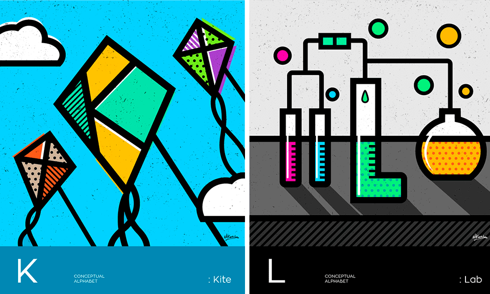 Conceptual Alphabet by Mike Karolos
