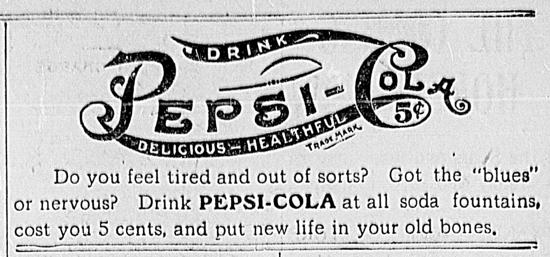 Pepsi-Cola ad 1903