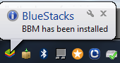BBM is installed on your Computer